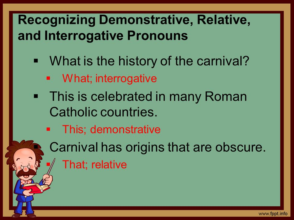 Recognizing Demonstrative, Relative, and Interrogative Pronouns