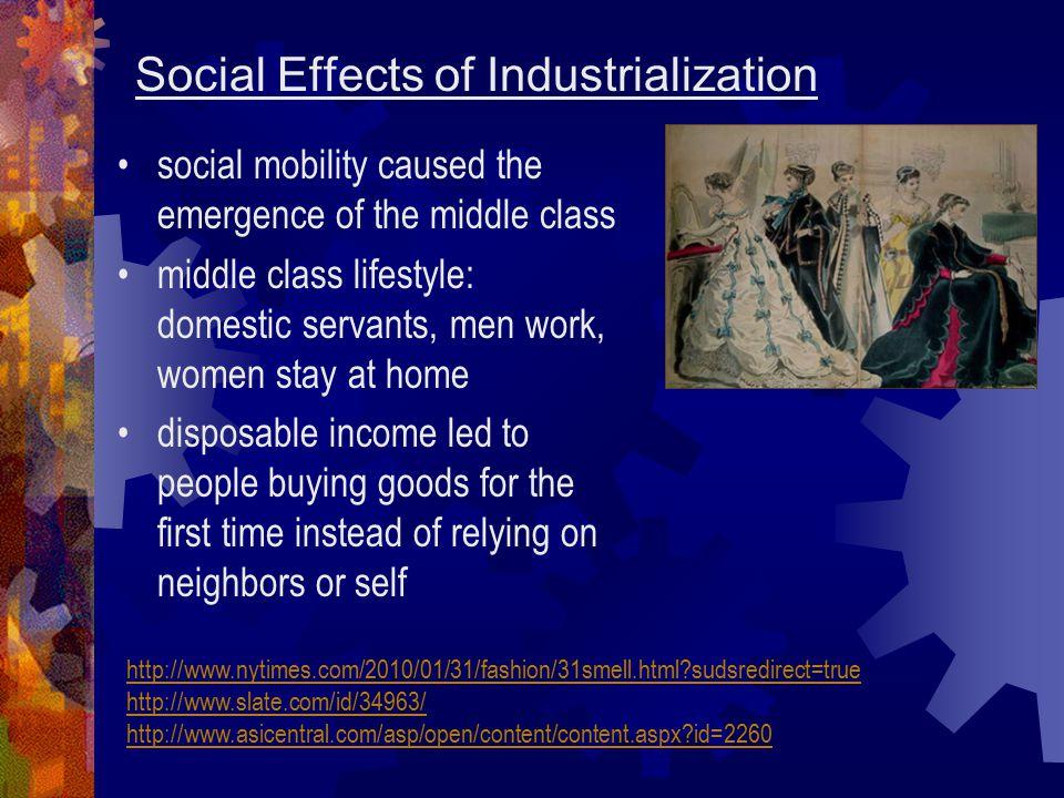 Social Effects of Industrialization