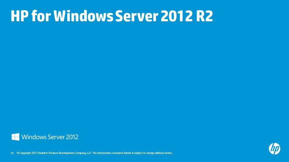 HP for Windows Server 2012 R2