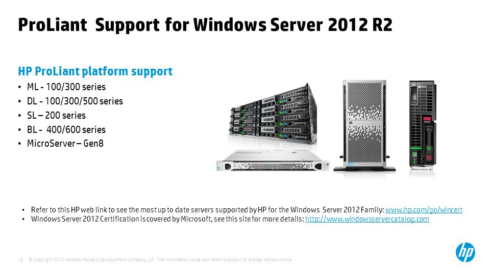 ProLiant Support for Windows Server 2012 R2