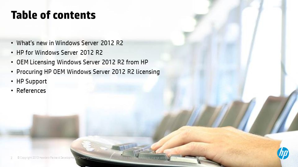 Table of contents What's new in Windows Server 2012 R2