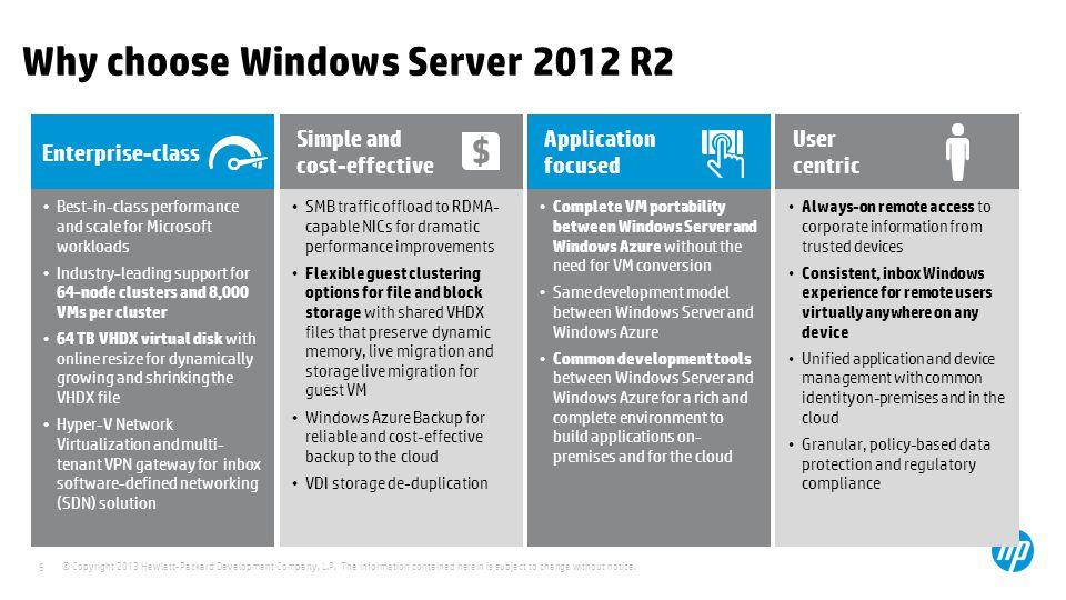 Why choose Windows Server 2012 R2