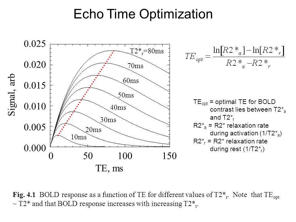 Echo Time Optimization