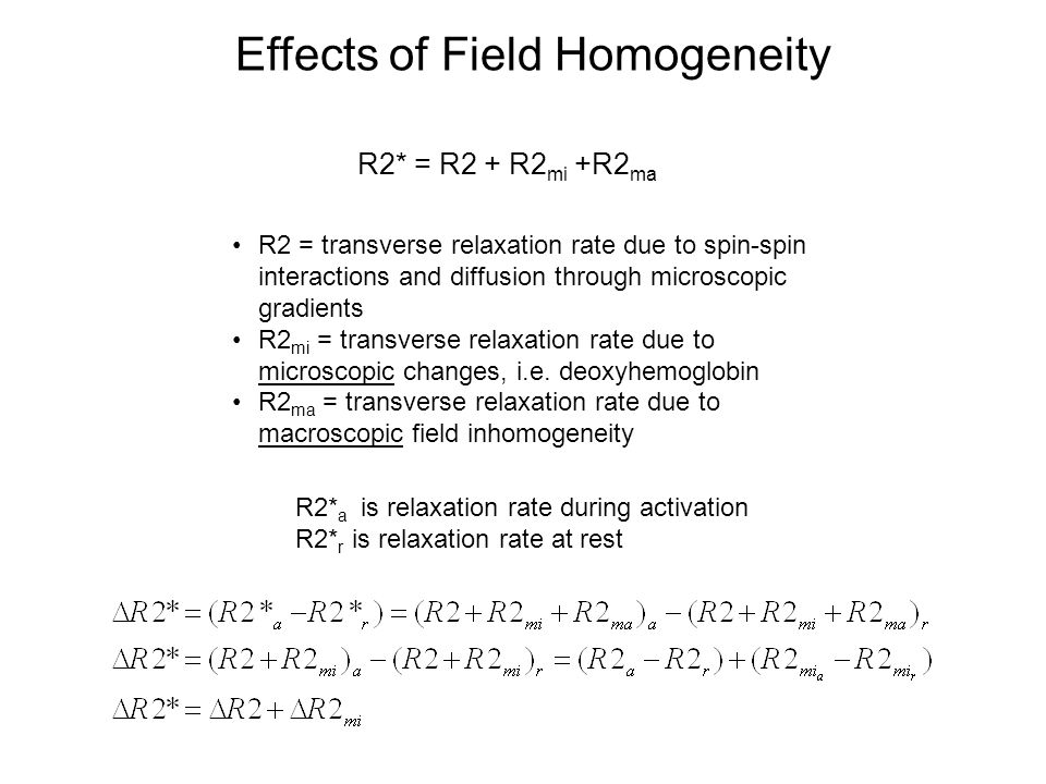 Effects of Field Homogeneity