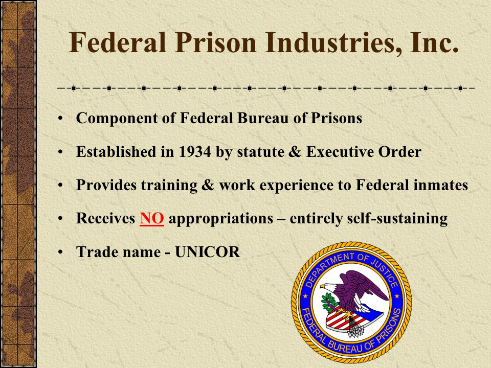 Federal Prison Industries, Inc.