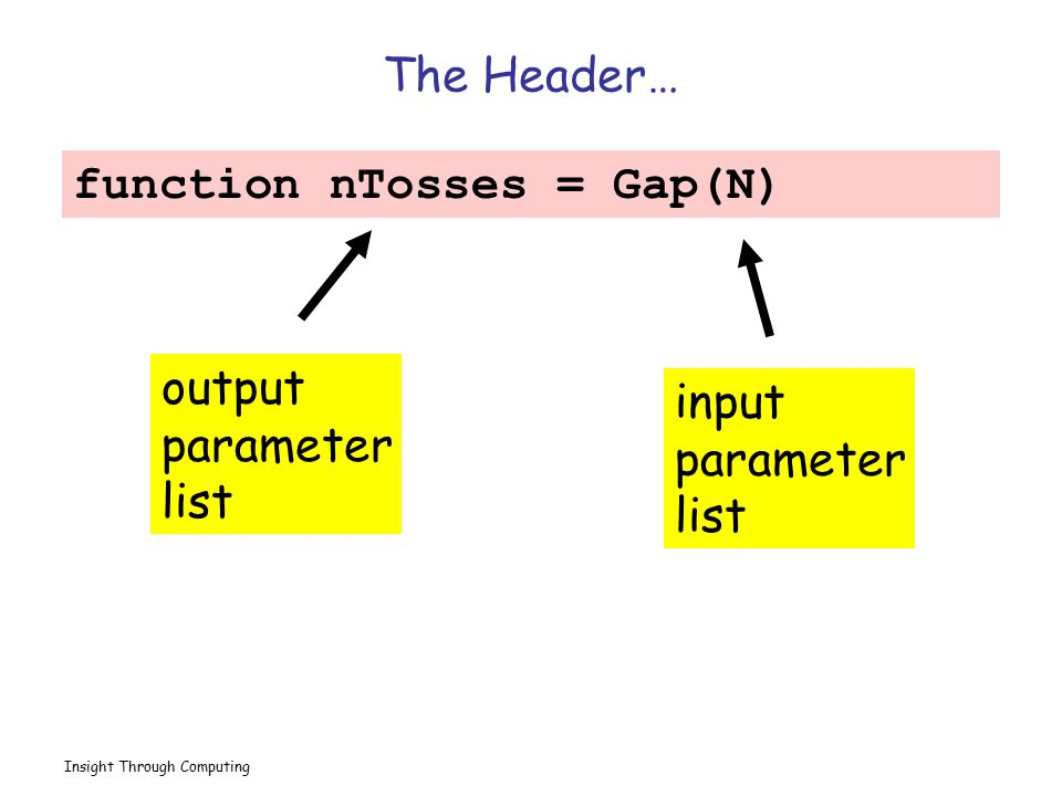 function nTosses = Gap(N)