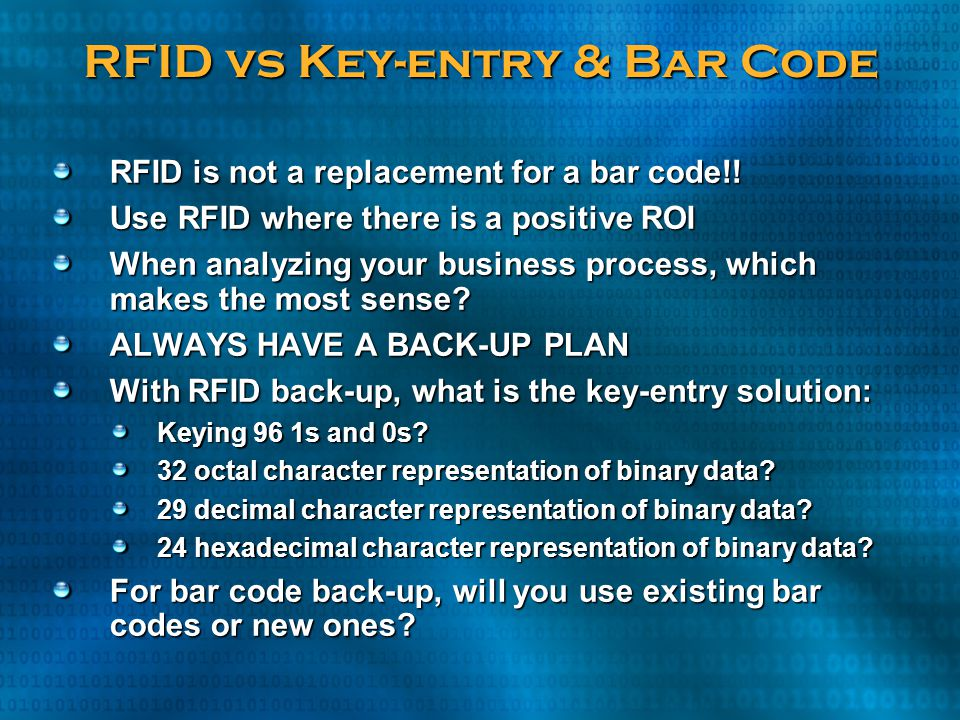 RFID vs Key-entry & Bar Code