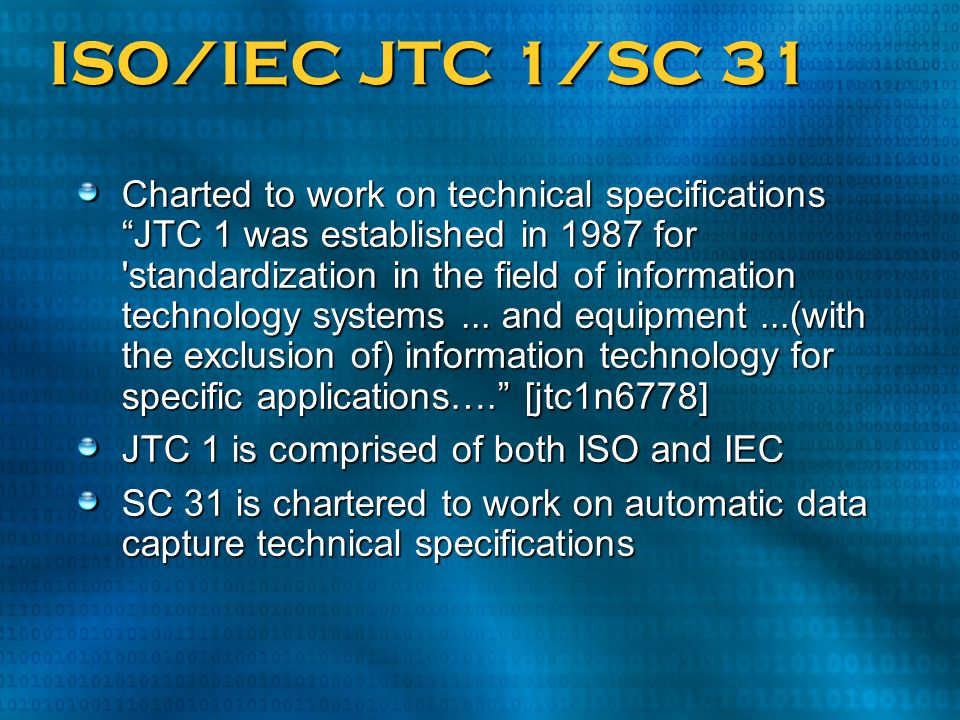 ISO/IEC JTC 1/SC 31