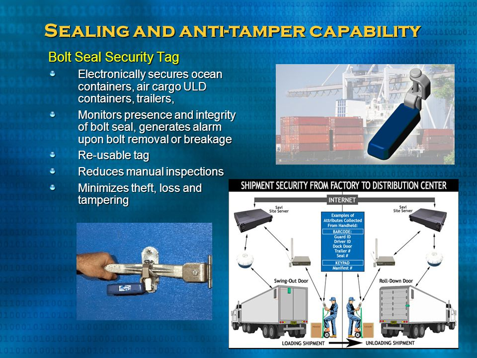 Sealing and anti-tamper capability
