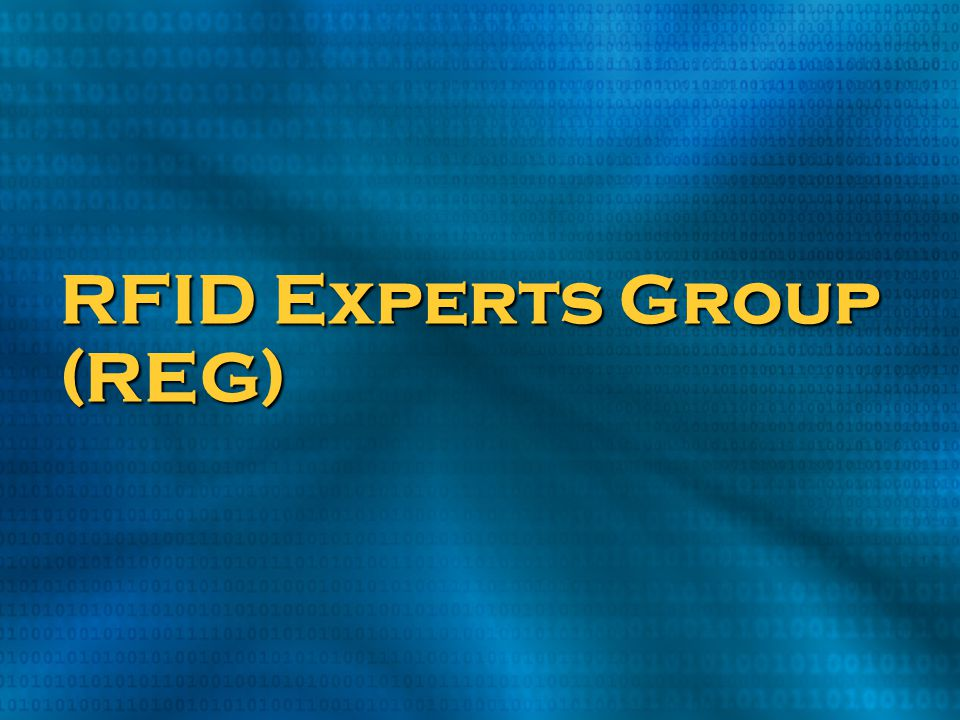 RFID Experts Group (REG)