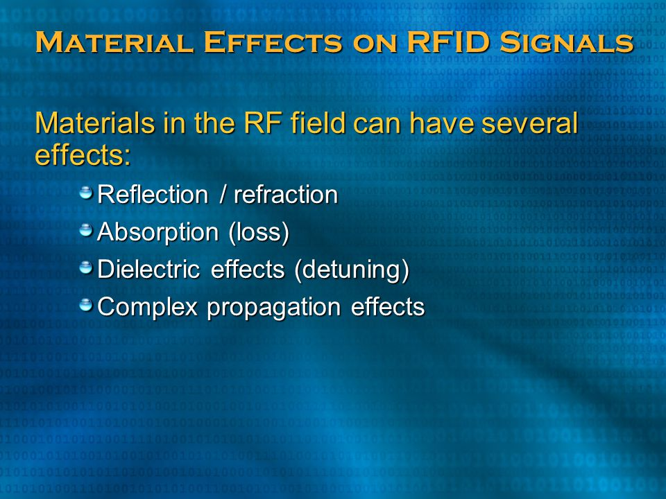 Material Effects on RFID Signals