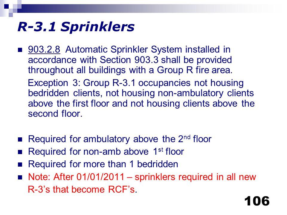 R-3.1 Sprinklers