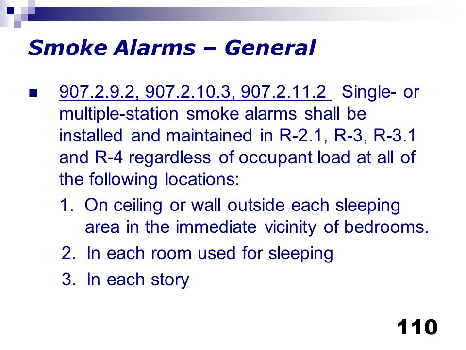 Smoke Alarms – General