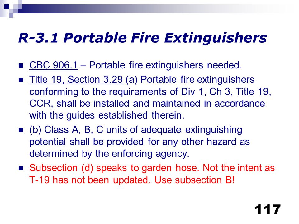 R-3.1 Portable Fire Extinguishers