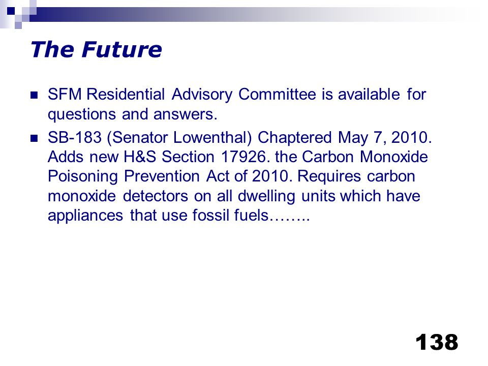 The Future SFM Residential Advisory Committee is available for questions and answers.
