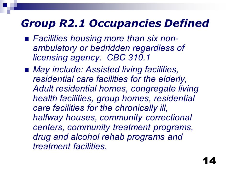 Group R2.1 Occupancies Defined