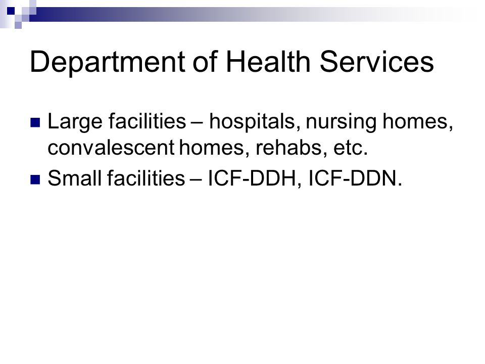 Department of Health Services