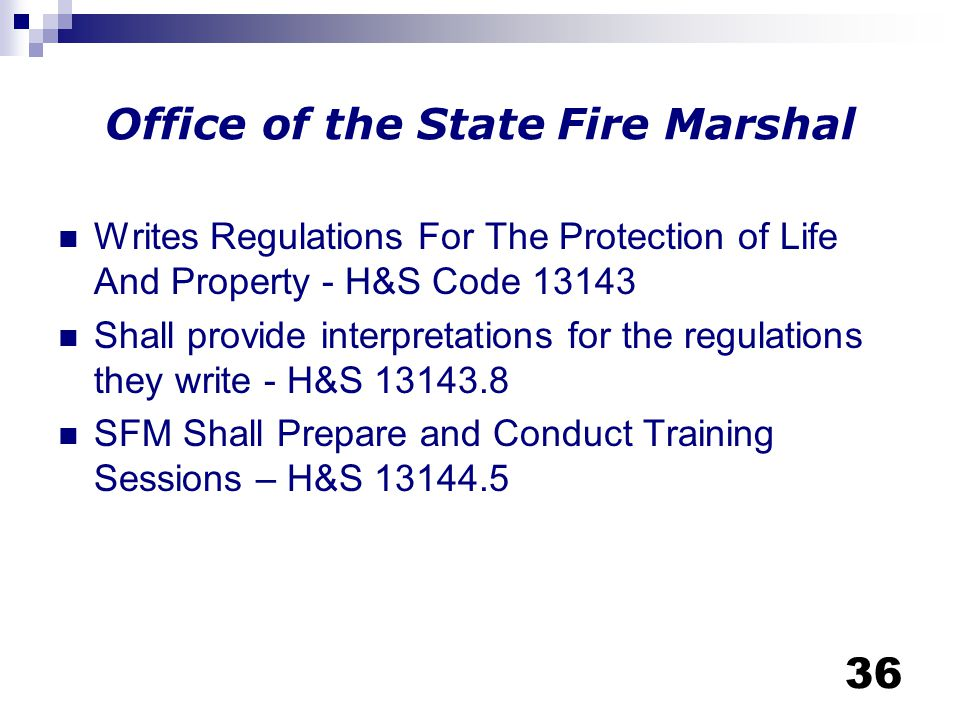 Office of the State Fire Marshal