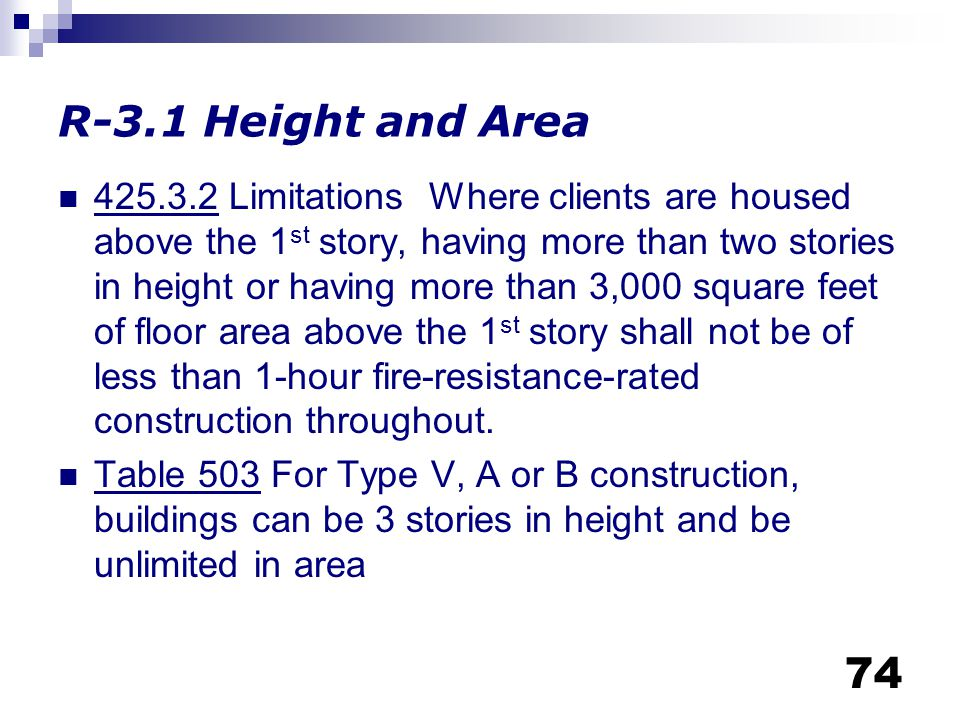 R-3.1 Height and Area
