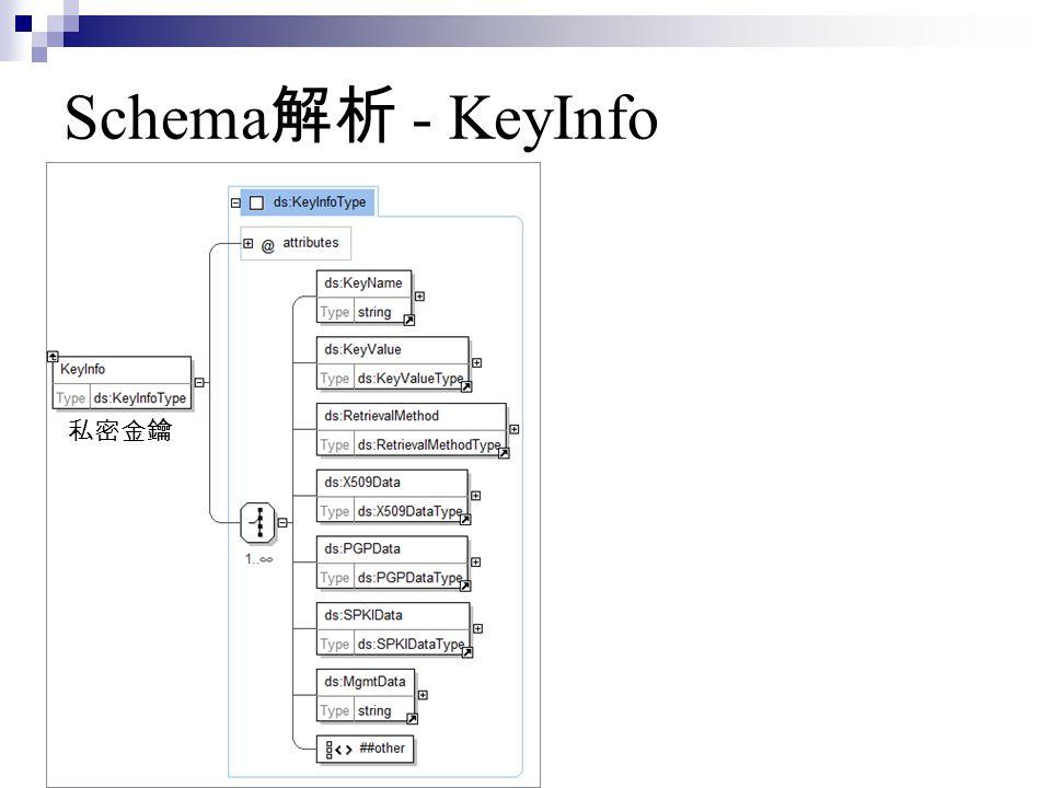Schema解析 - KeyInfo 私密金鑰