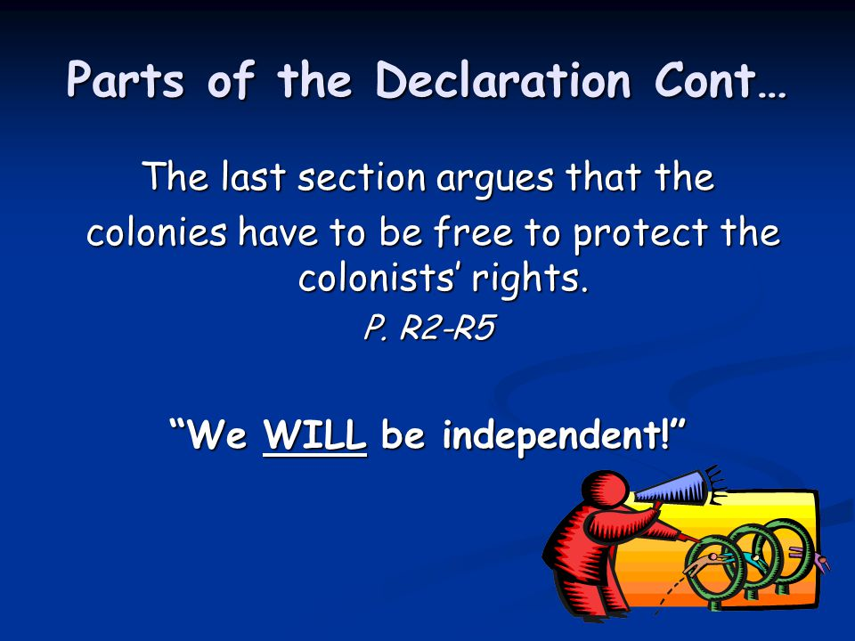 Parts of the Declaration Cont…