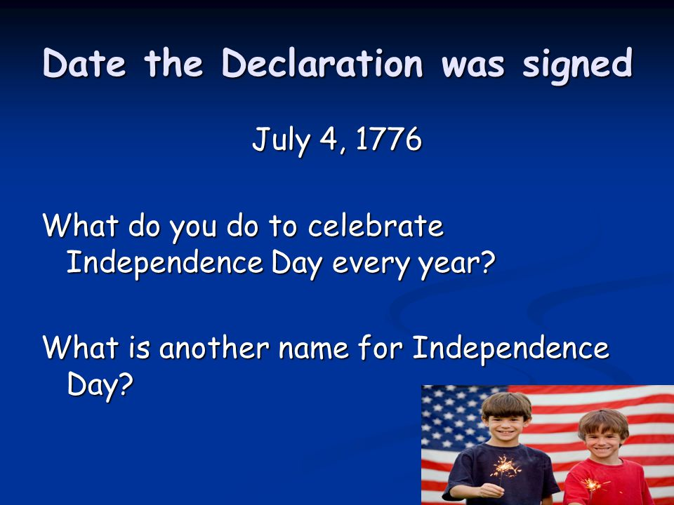 Date the Declaration was signed