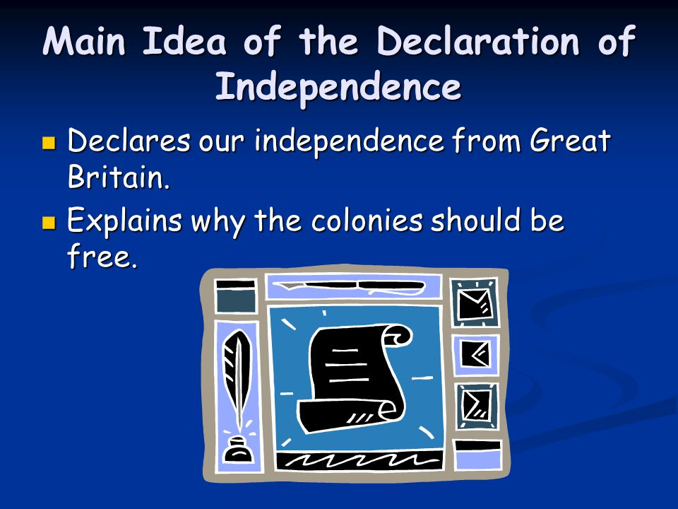 Main Idea of the Declaration of Independence