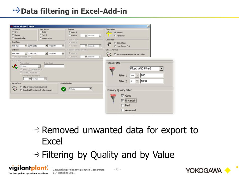 Data filtering in Excel-Add-in
