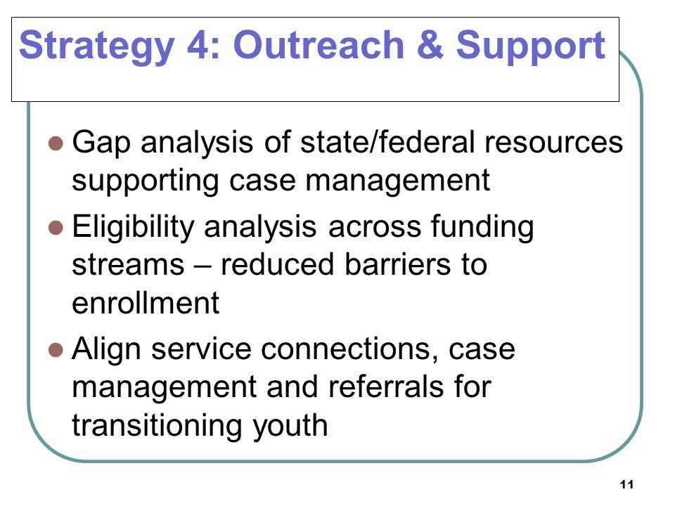 Strategy 4: Outreach & Support