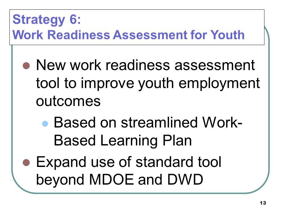 Based on streamlined Work-Based Learning Plan