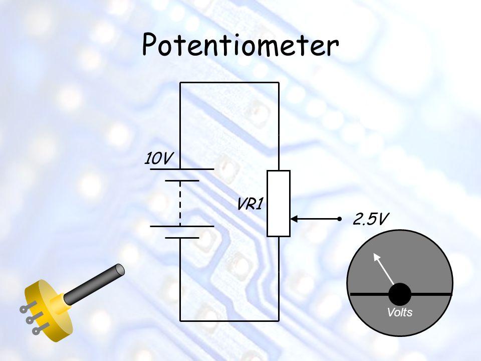 Potentiometer 10V VR1 2.5V Volts