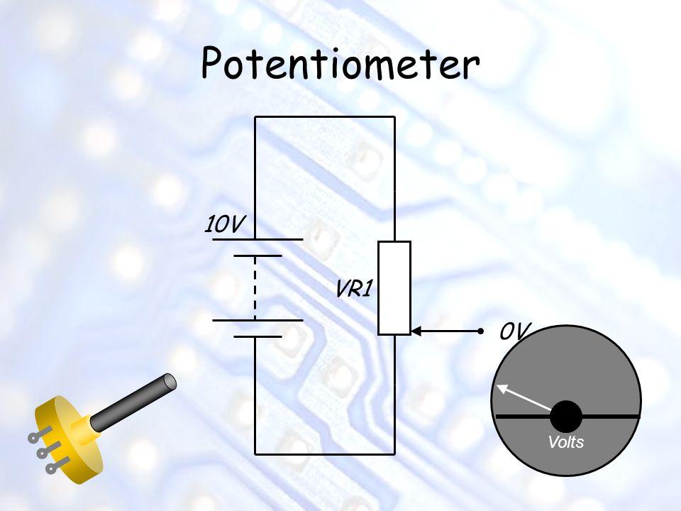 Potentiometer 10V VR1 0V Volts
