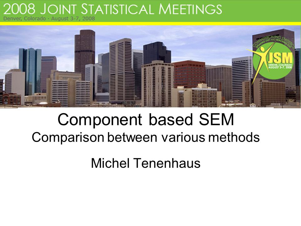 Component based SEM Comparison between various methods