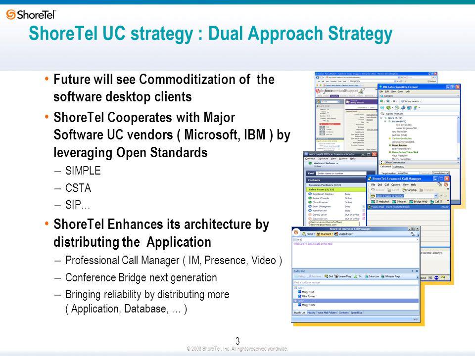 ShoreTel UC strategy : Dual Approach Strategy