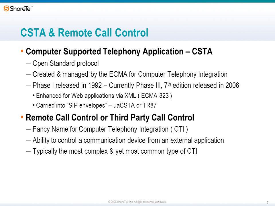 CSTA & Remote Call Control