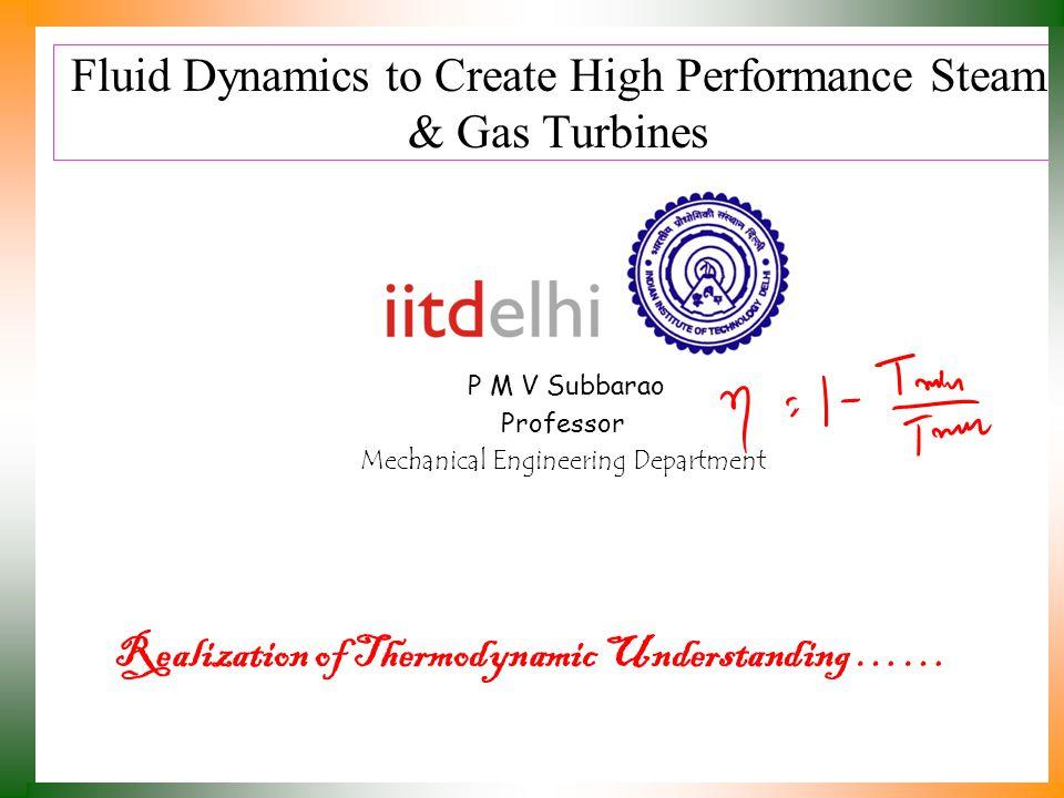 Fluid Dynamics to Create High Performance Steam & Gas Turbines