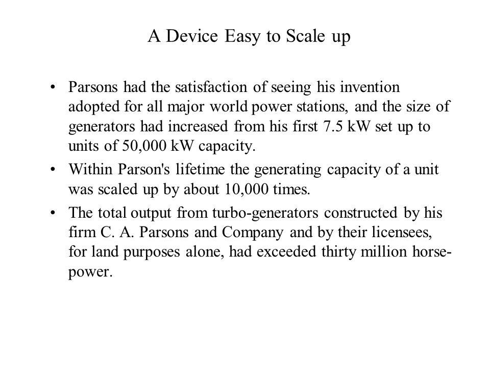 A Device Easy to Scale up