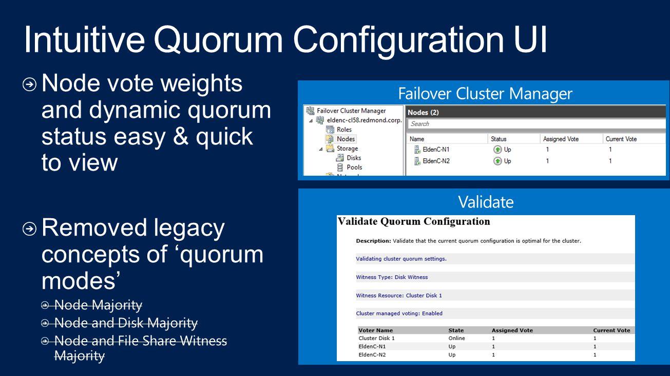 Intuitive Quorum Configuration UI