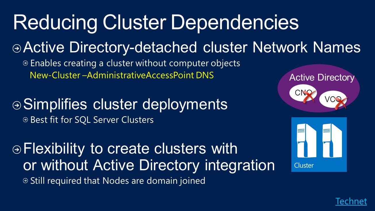 Reducing Cluster Dependencies