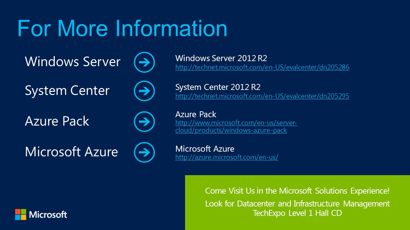 Come Visit Us in the Microsoft Solutions Experience!