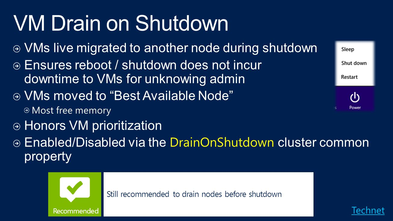 VM Drain on Shutdown VMs live migrated to another node during shutdown