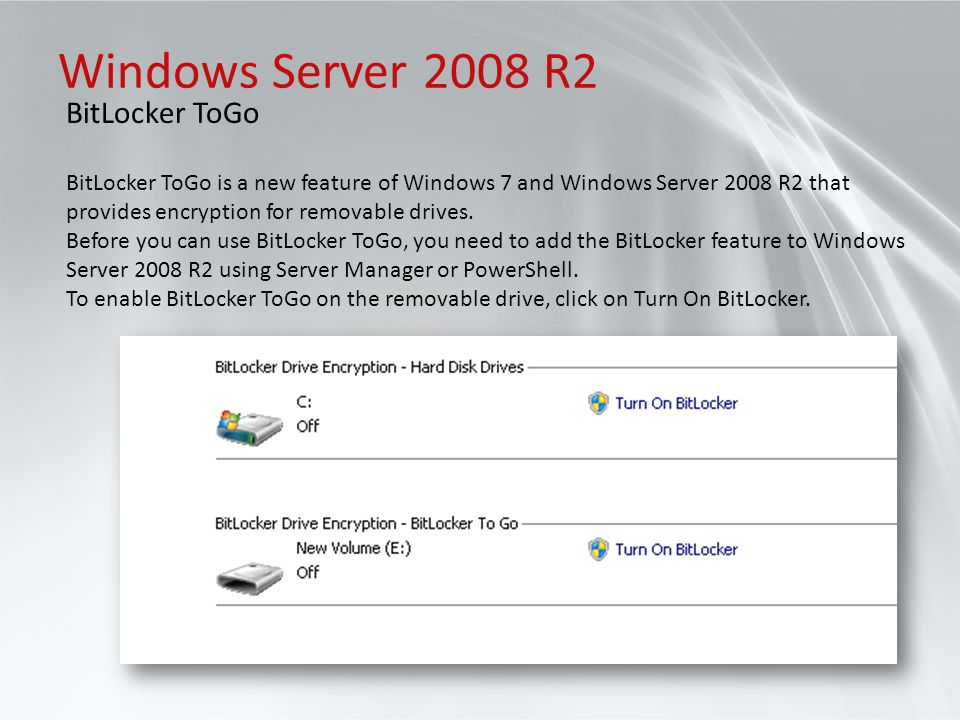 Windows Server 2008 R2 BitLocker ToGo