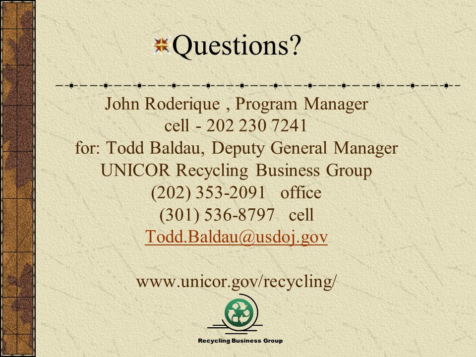 Recycling Business Group