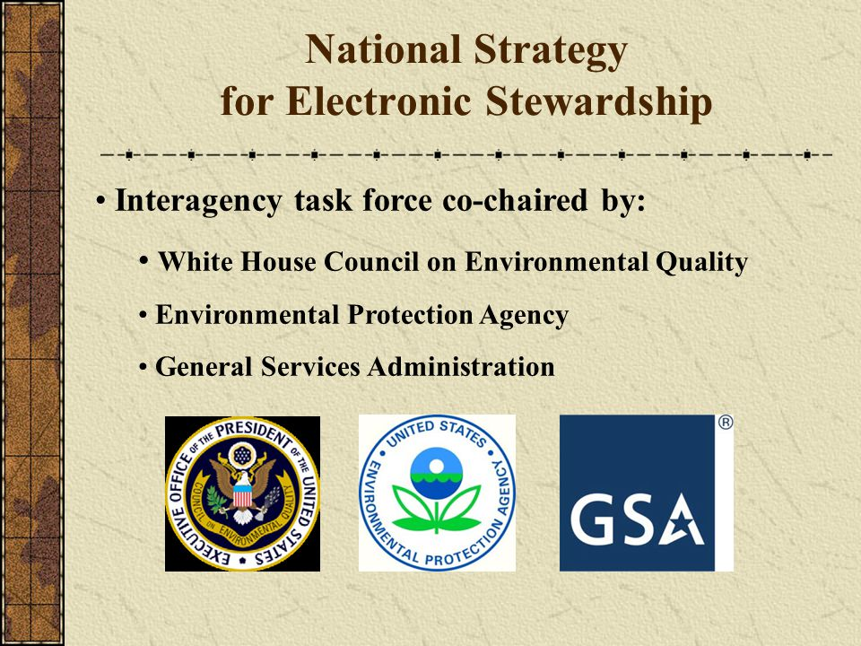 National Strategy for Electronic Stewardship