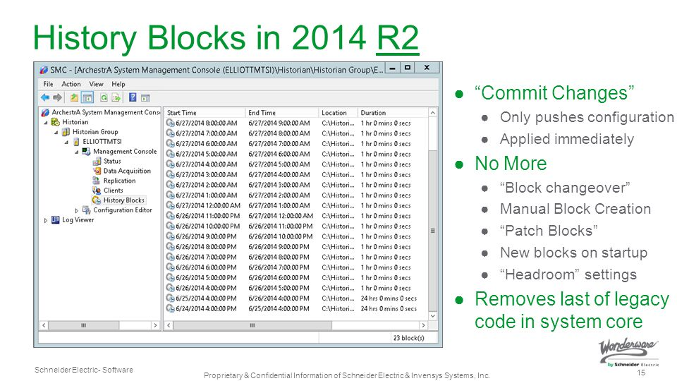 History Blocks in 2014 R2 Commit Changes No More