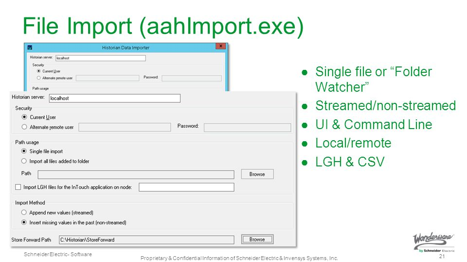 File Import (aahImport.exe)