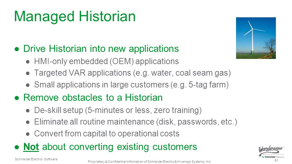 Managed Historian Drive Historian into new applications