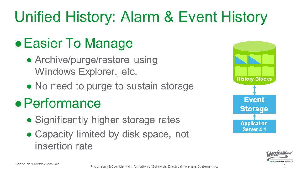 Unified History: Alarm & Event History