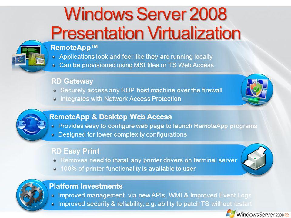 Windows Server 2008 Presentation Virtualization