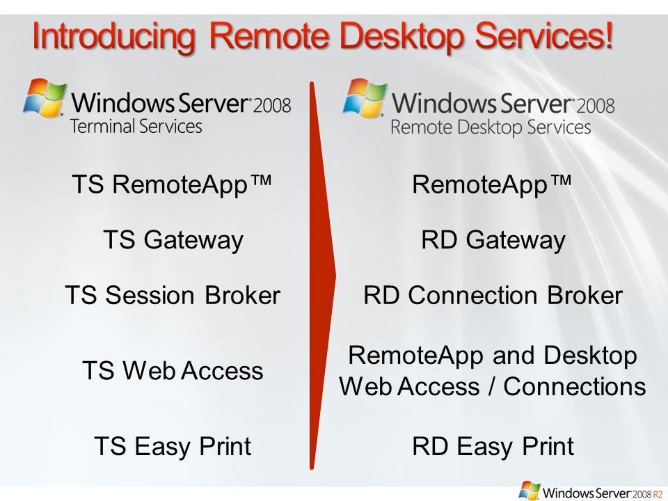 Introducing Remote Desktop Services!